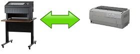 COMPARATIVA PRINTRONIX-P800 Epson DFX 9000 dfx8500
